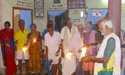 Old Age Home Diwali Celebration